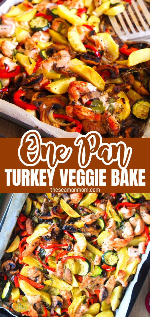 One pan turkey veggie bake