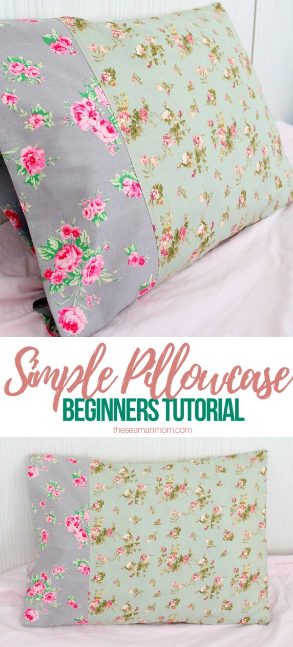 Sewing tutorial: Simple pillowcase