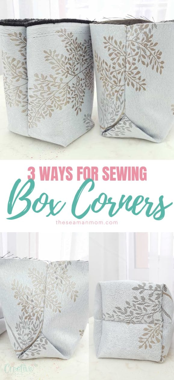Wondering how to give design, shape and volume to all your bags? Simply create a flat bottom! Here you'll learn 3 easy peasy ways for sewing box corners! via @petroneagu