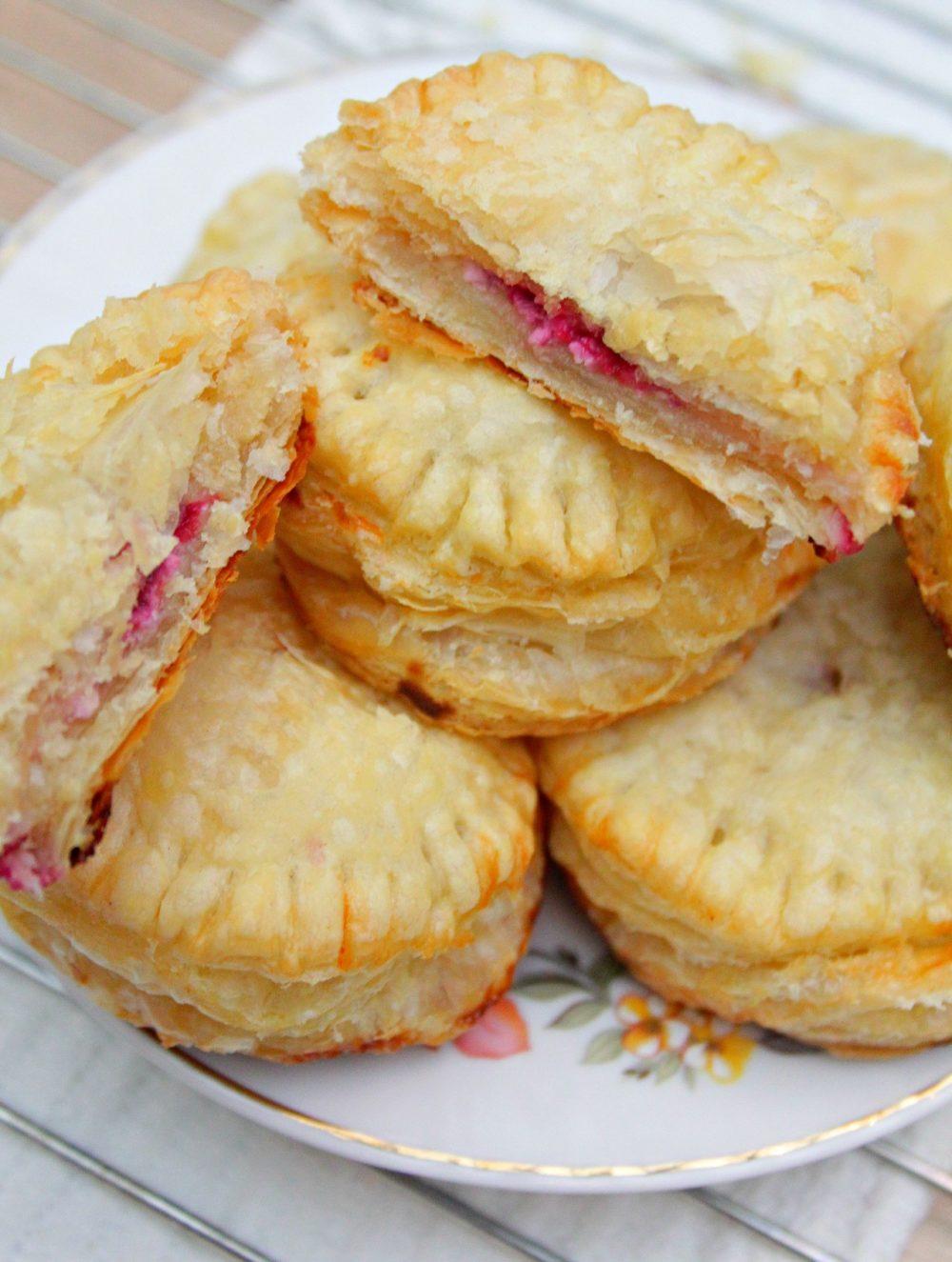 individual raspberry cheese pies