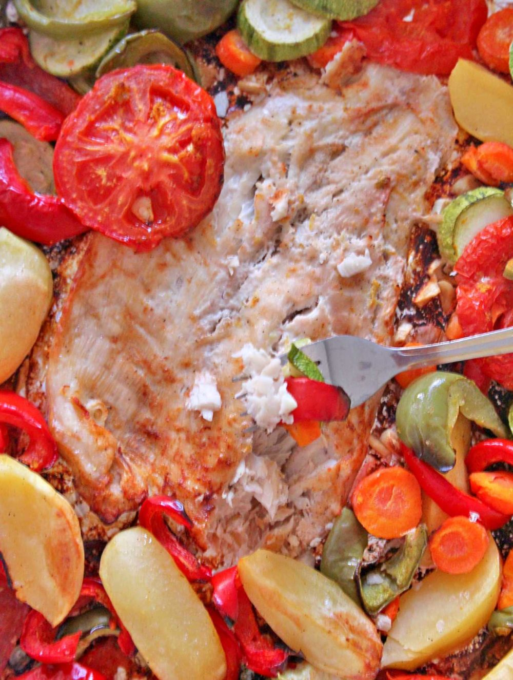 baked fish with vegetables