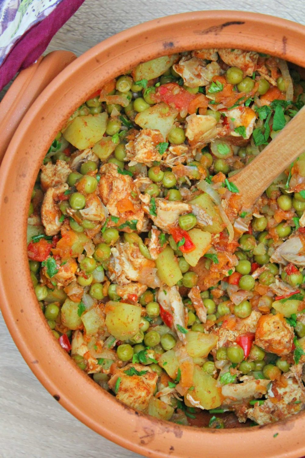 healthy and delicious, this oven chicken stew is the perfect comfort food!