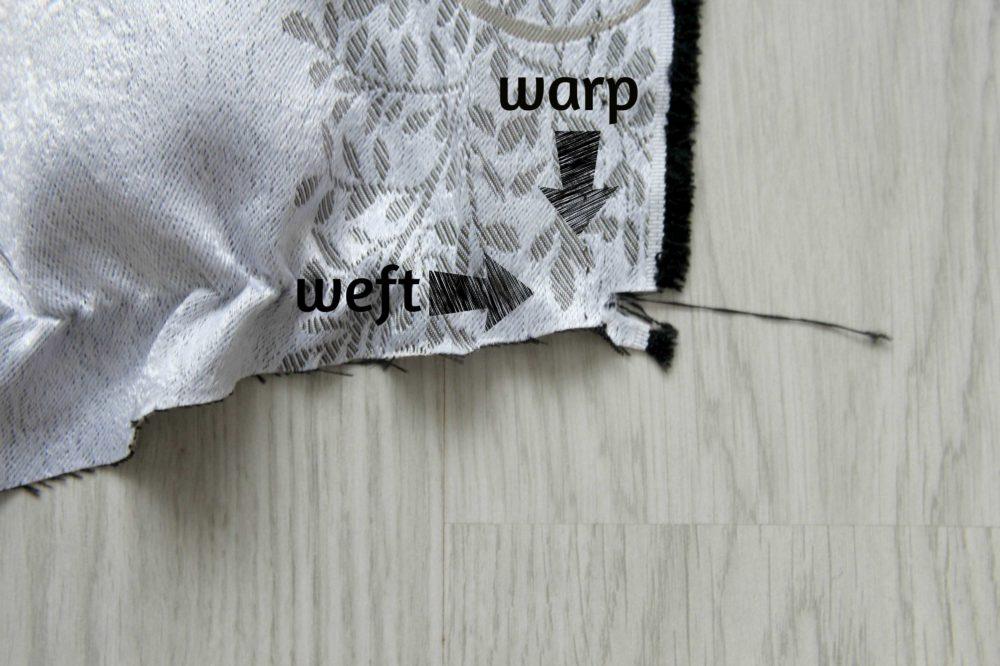 squaring fabric