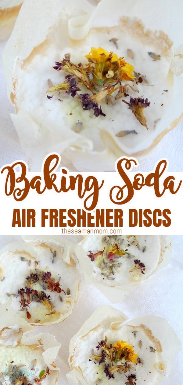 These air freshener discs with baking soda & essential oils smell fantastic & will help eliminate odors in the house, office or in the car. via @petroneagu