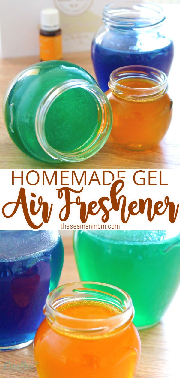Need a natural way to scent your home? Everyone loves a nice scent in their homes! This gel air freshener is useful, affordable and so easy peasy to make! via @petroneagu