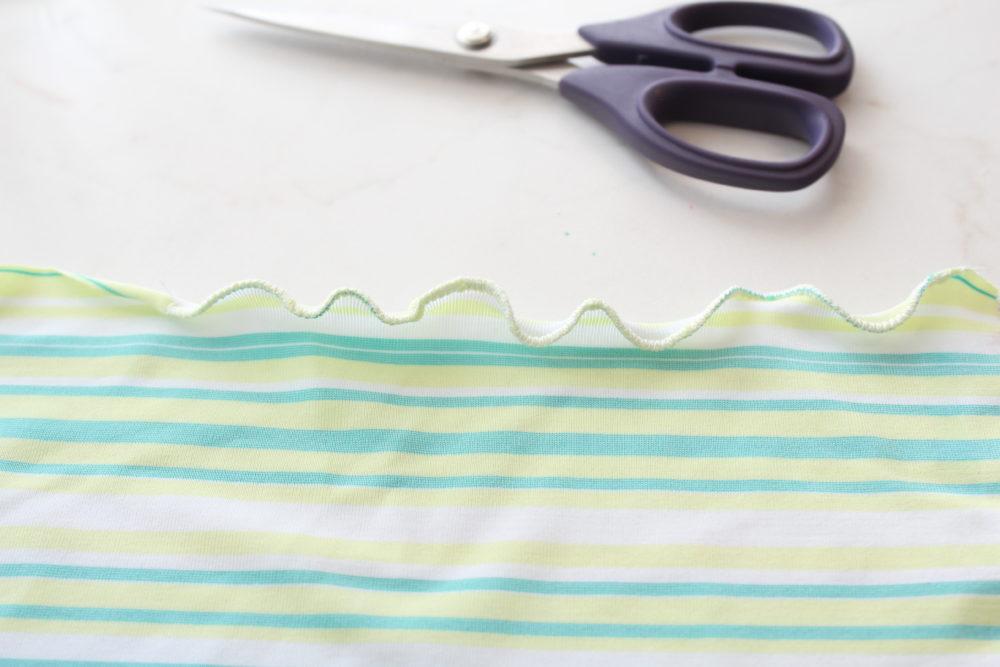 how to sew a lettuce edge hem