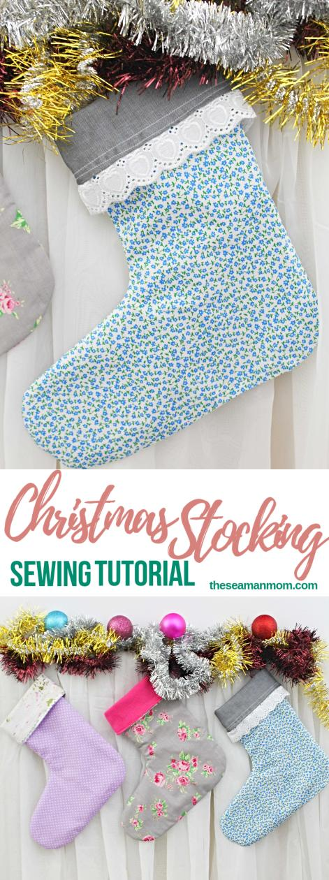 Sewing tutorial: Christmas stocking, with free pattern