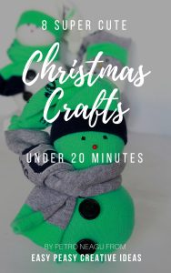 Cute Christmas crafts under 20 minutes