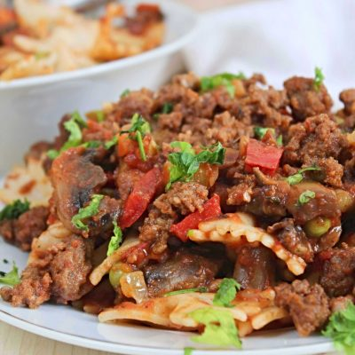 Beef Pasta With Ground Beef & Farfalle