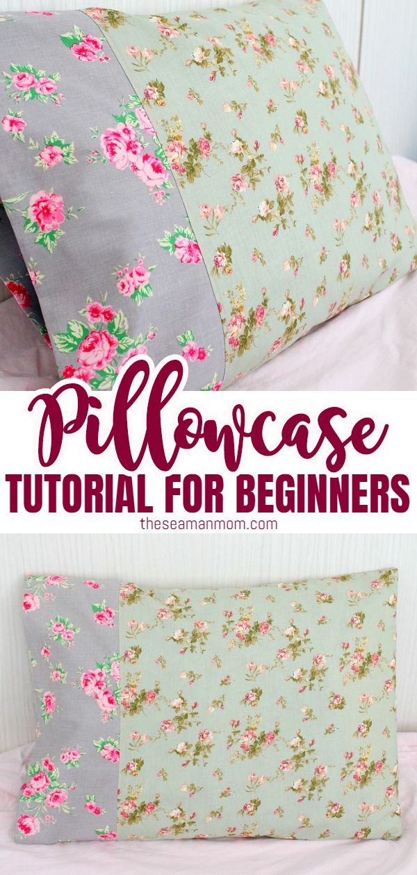 Pillowcases are fun to make and a great project for the absolute beginner! This pillowcase tutorial is so quick and easy that you'll be finding yourself making pillowcases for everyone! With this easy pillowcase tutorial you'll learn how to make a simple pillowcase for beginners. via @petroneagu