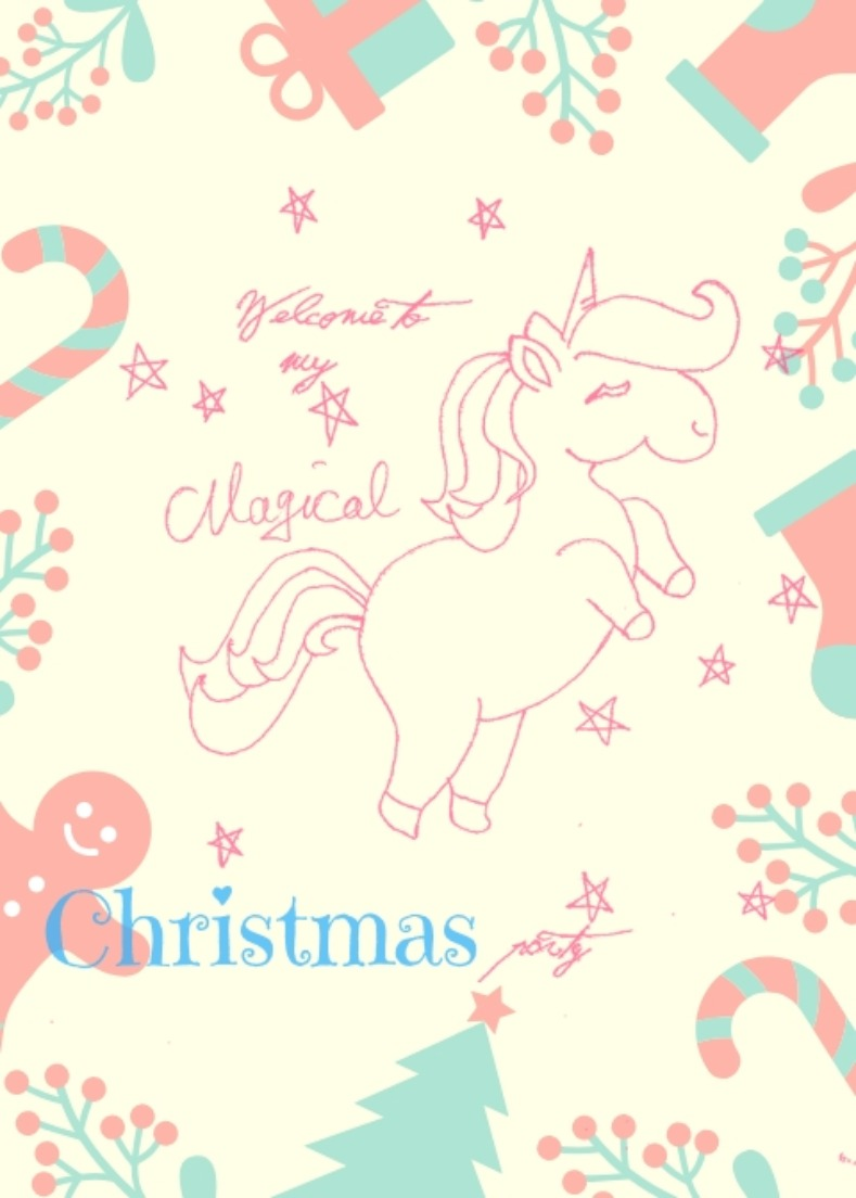 Unicorn printables in pink for a Christmas party