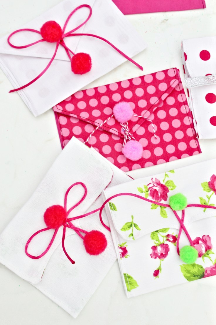 Fabric envelope pouches