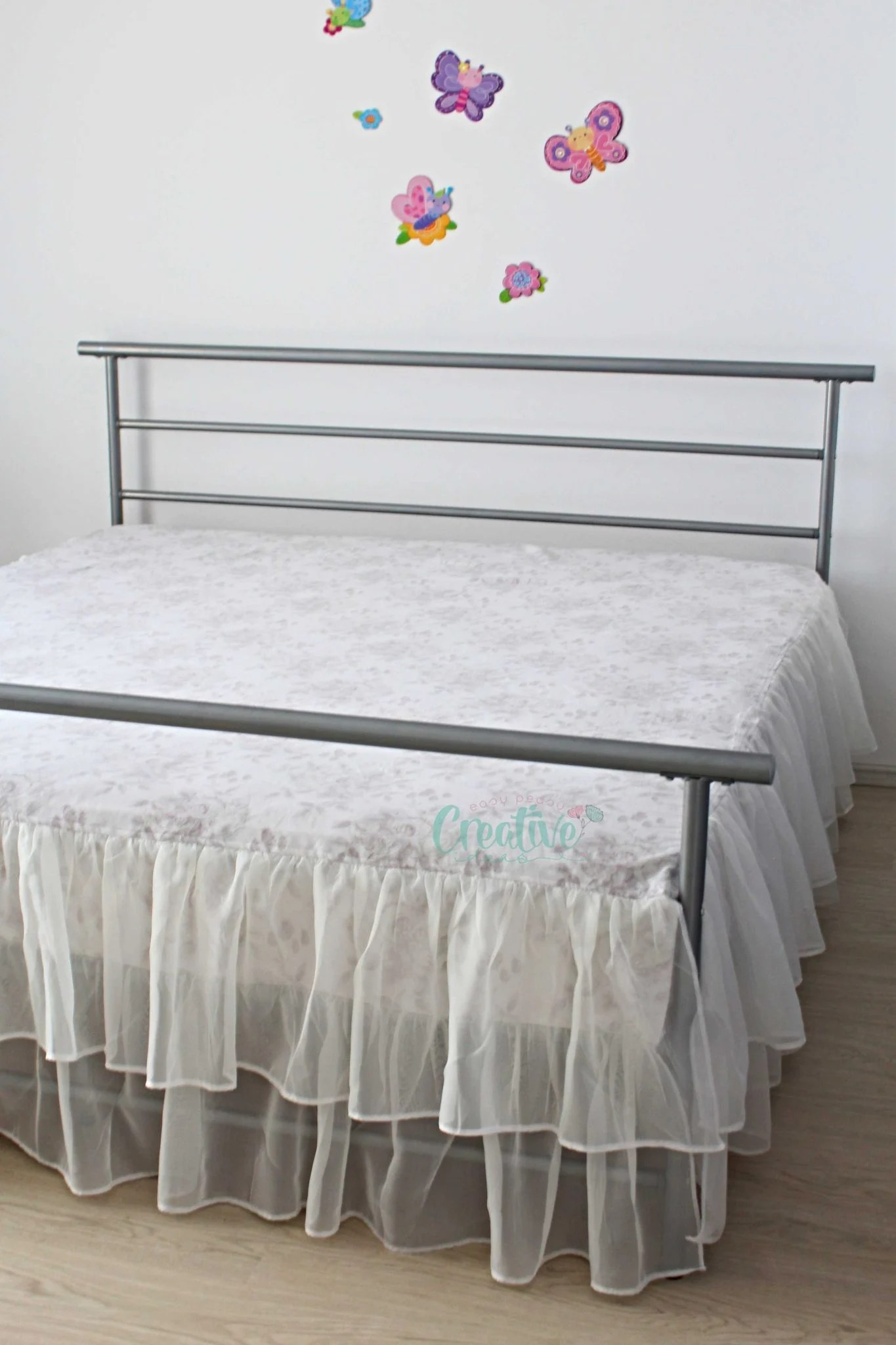 ruffled bed skirt