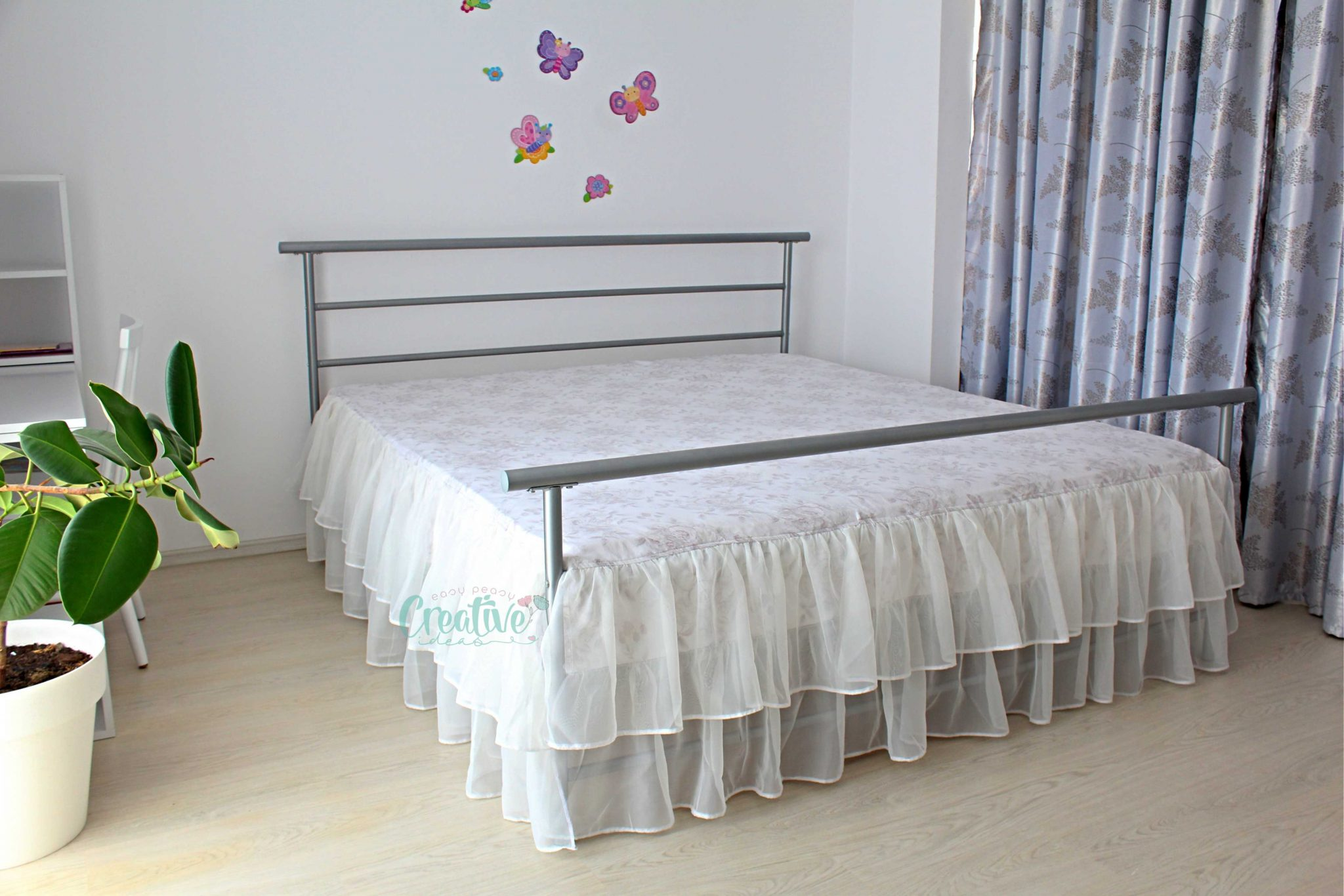 how to sew a bed skirt