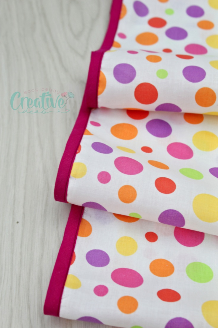 Sewing double fold bias tape