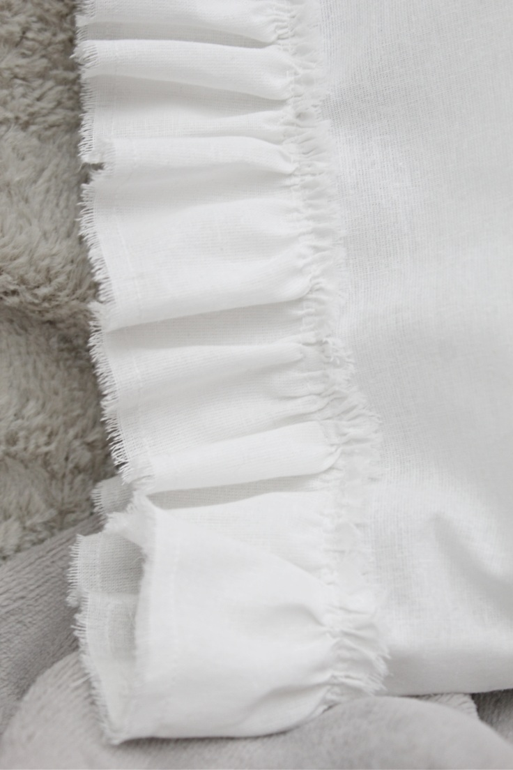 White ruffle pillowcase