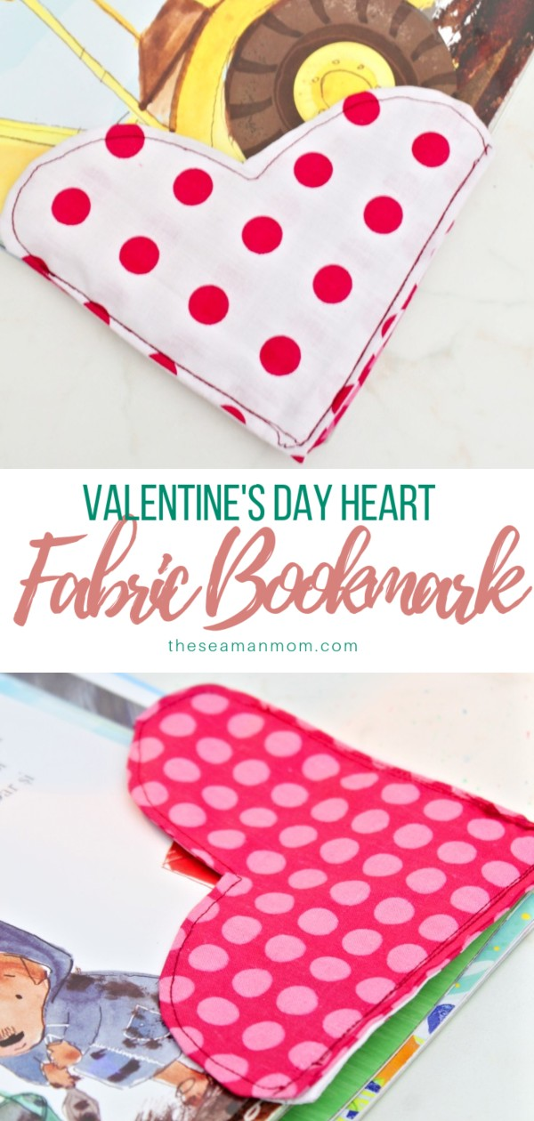 Sewing tutorial: Fabric heart bookmarks