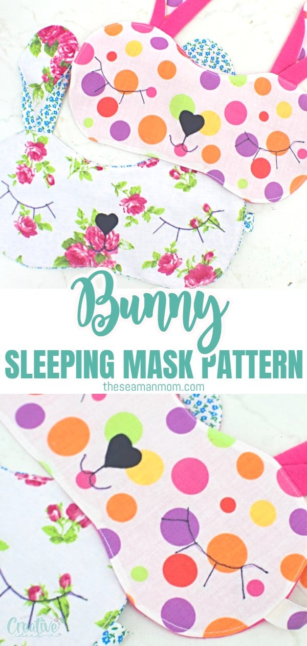 Looking for a cuteeye mask pattern? Thisbunny sleeping mask is not only super adorable but easy and fun to make too! Ready in about half an hour, thiscute sleep mask is a great gift idea for Easter! via @petroneagu
