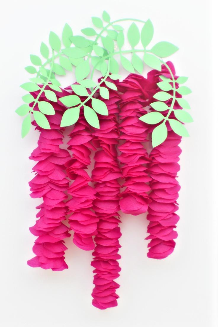 Crepe paper wisteria