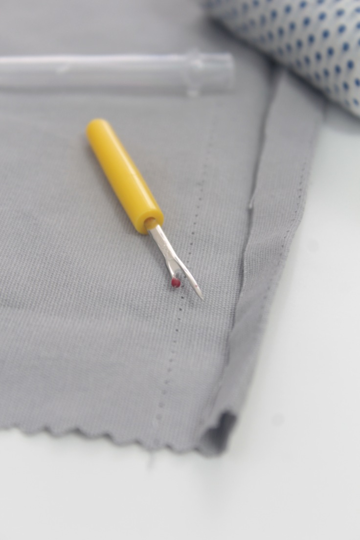 How to use the seam ripper