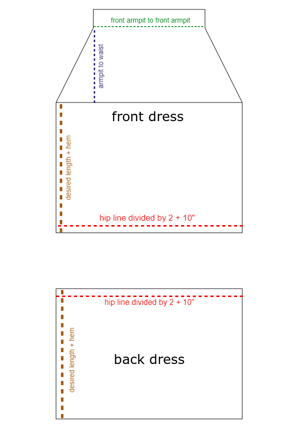 Cross back dress template
