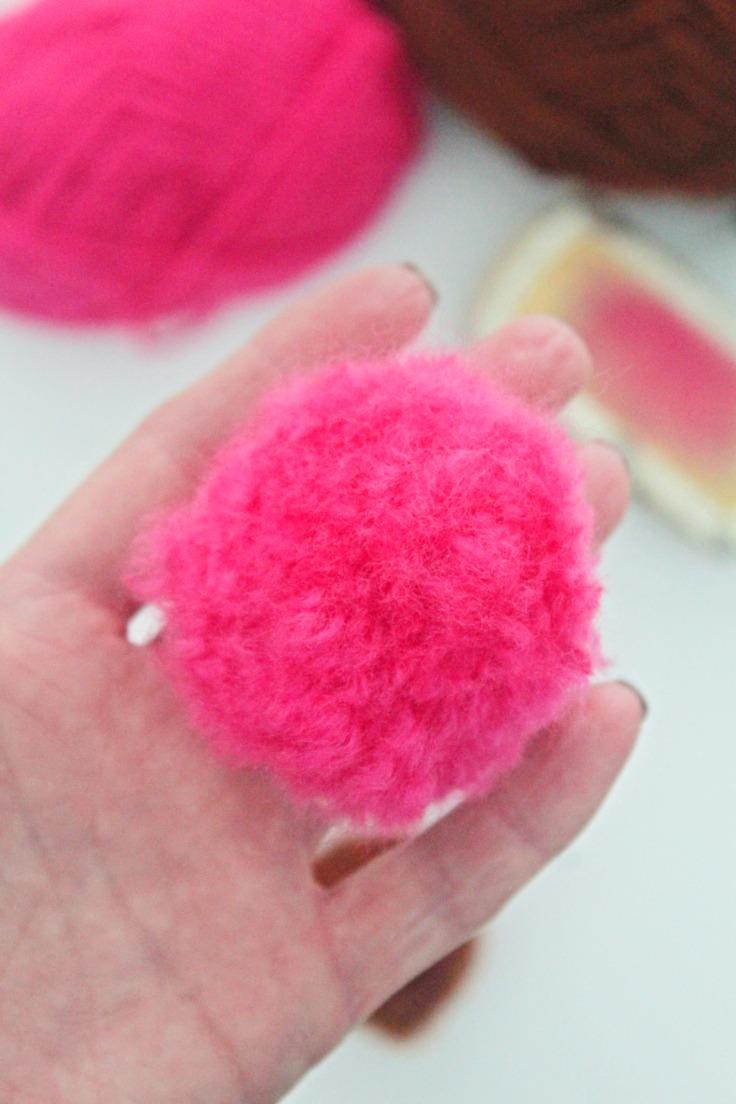 Fuzzy pom poms
