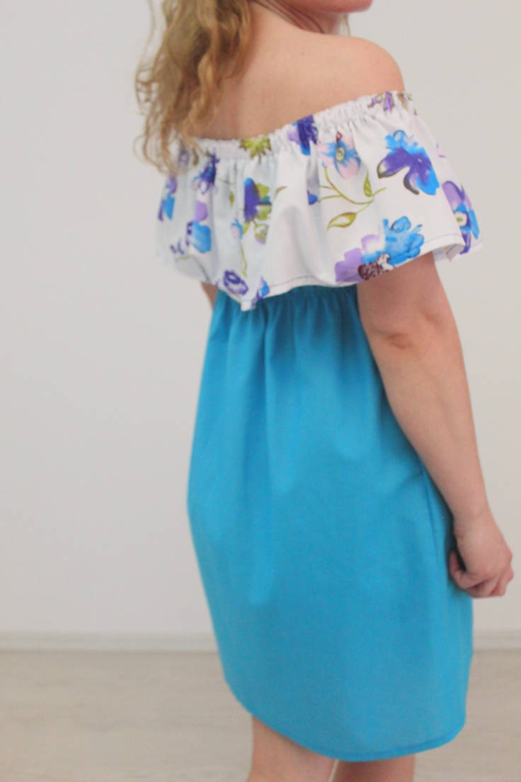 Ruffled top dress