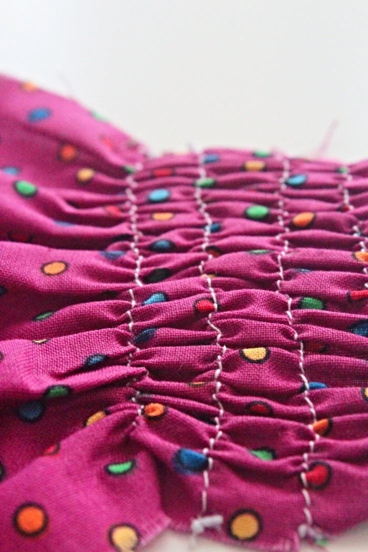 Sewing with elastic thread