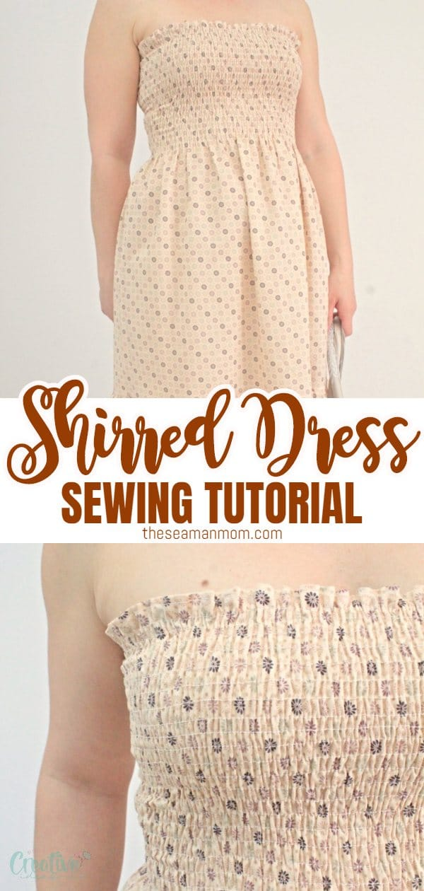 When it comes to summer dresses it doesn't get much easier than this shirred dress! This lovely shirred sundress is ready in no time and is a project suitable for beginners too! via @petroneagu