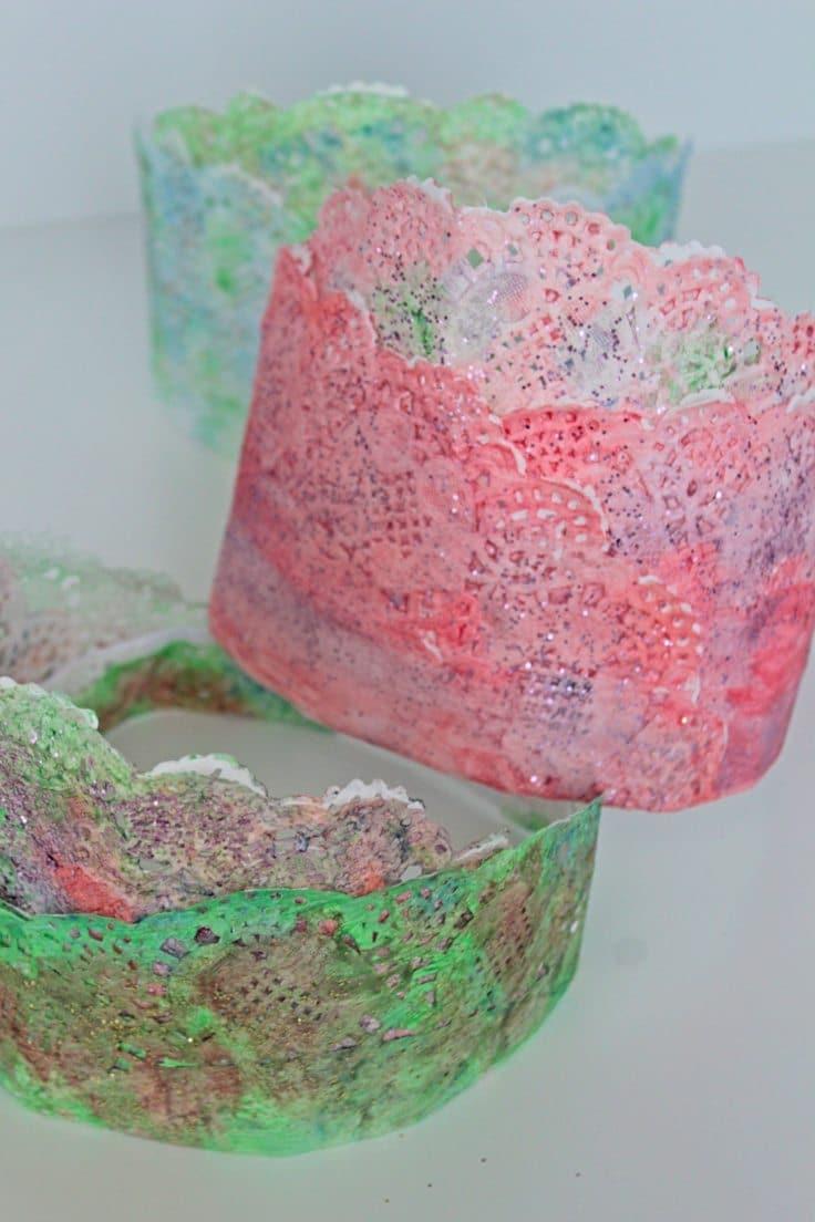 Paper doilies crown