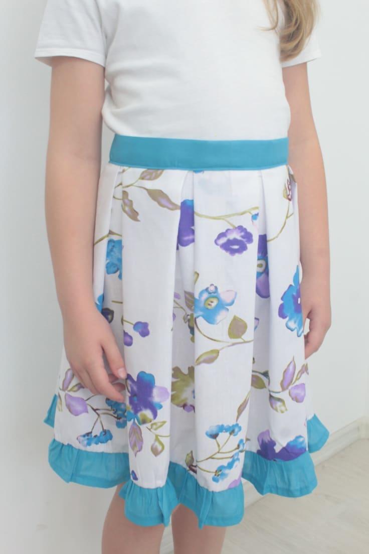 Box pleats skirt