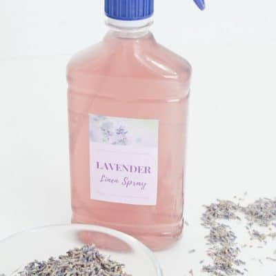 DIY lavender spray for linen
