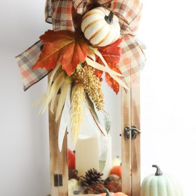 DIY Decorative fall lantern