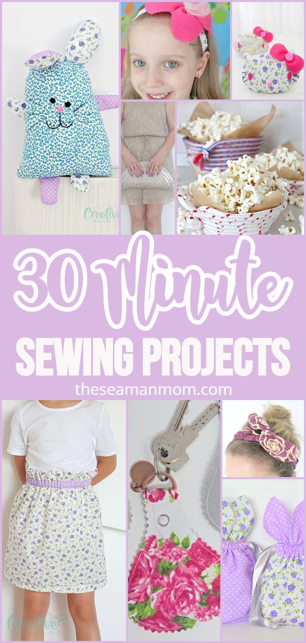 Whether you are an ultimate beginner looking to improve your sewing skills or have more experience but want something fun and quick to sew on boring afternoons, these simple sewing projects are a quick sew that everyone will enjoy! via @petroneagu