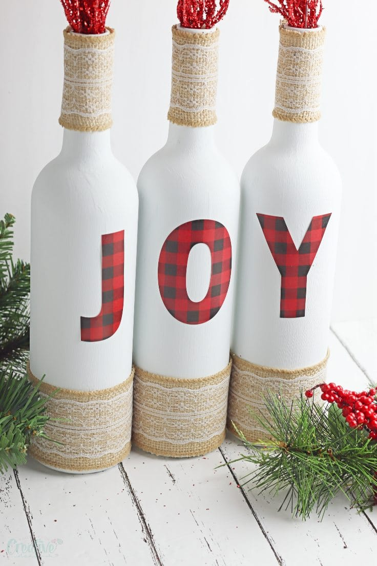 Joy wine bottles