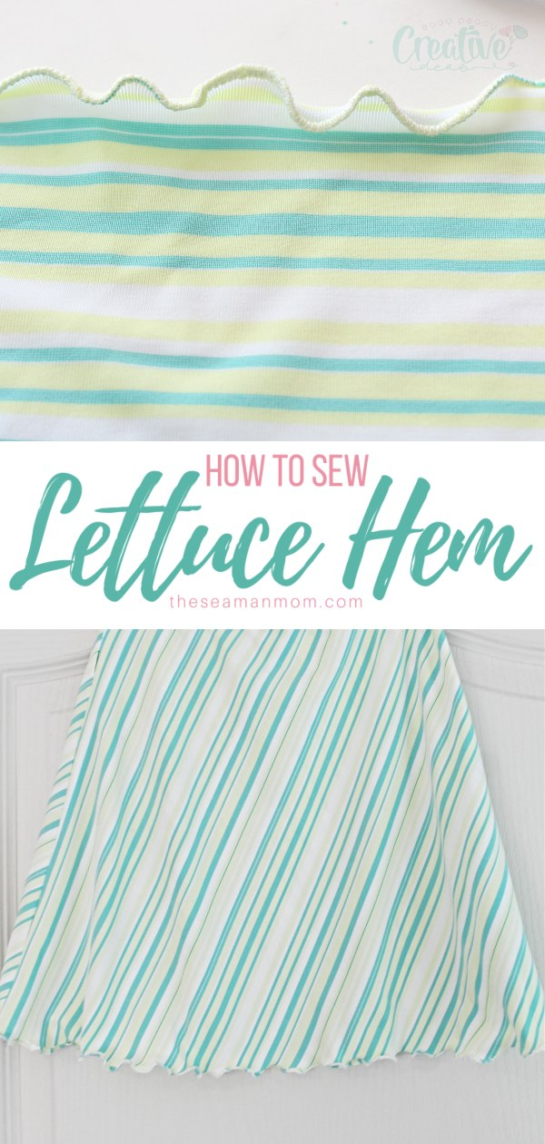 Give your sewing projects a pretty finish with a lettuce hem! This type of curly hem looks cute and attractive and is practical too as it won't make your project shorter. A great option when you're short on fabric. via @petroneagu
