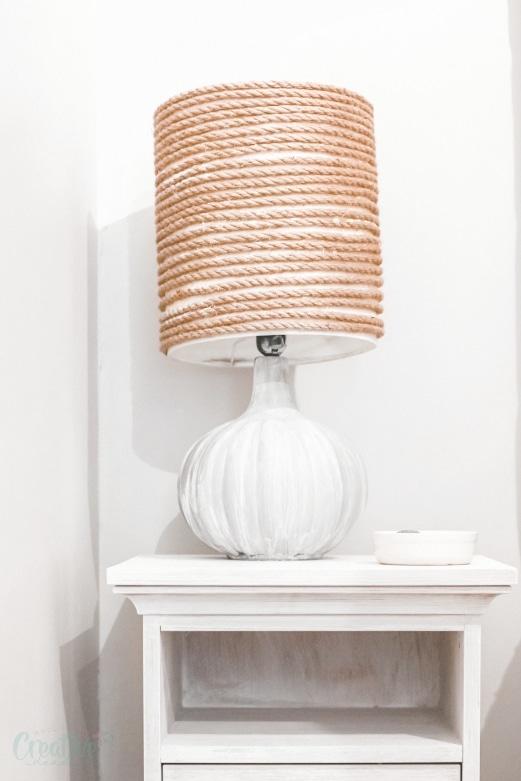 DIY farmhouse lamp
