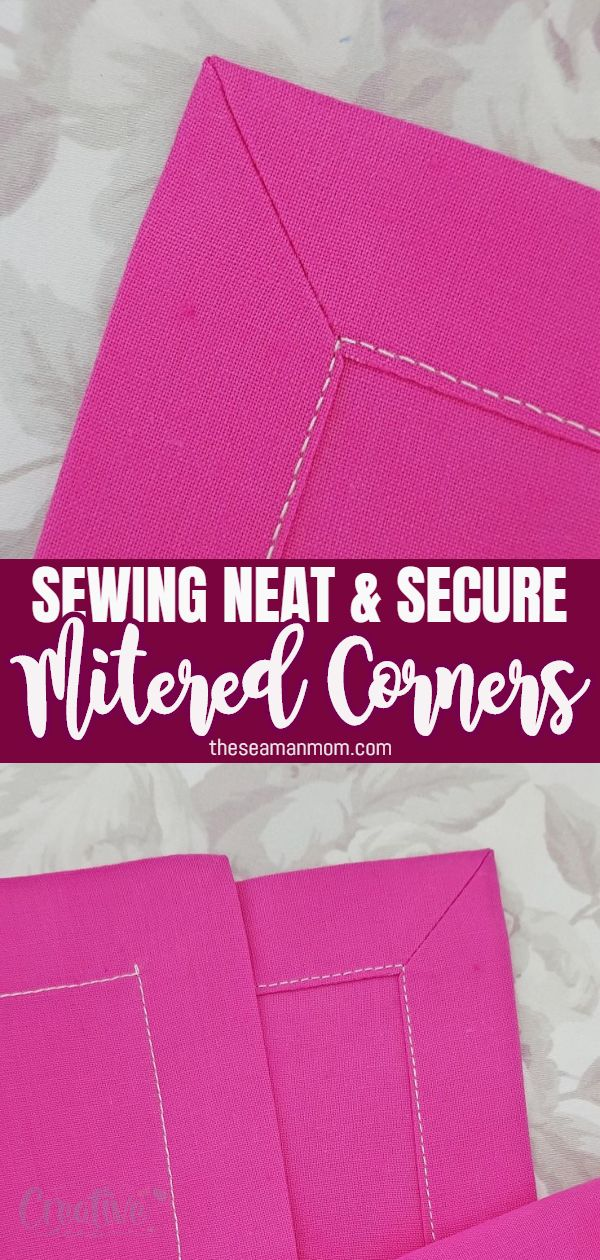 Learn how to miter corners with this easy method that creates beautiful polished corners every time! Makes sewing mitered corners fun instead of intimidating! Perfect methodto finish napkins, blankets, quilts, burp cloths and more! via @petroneagu