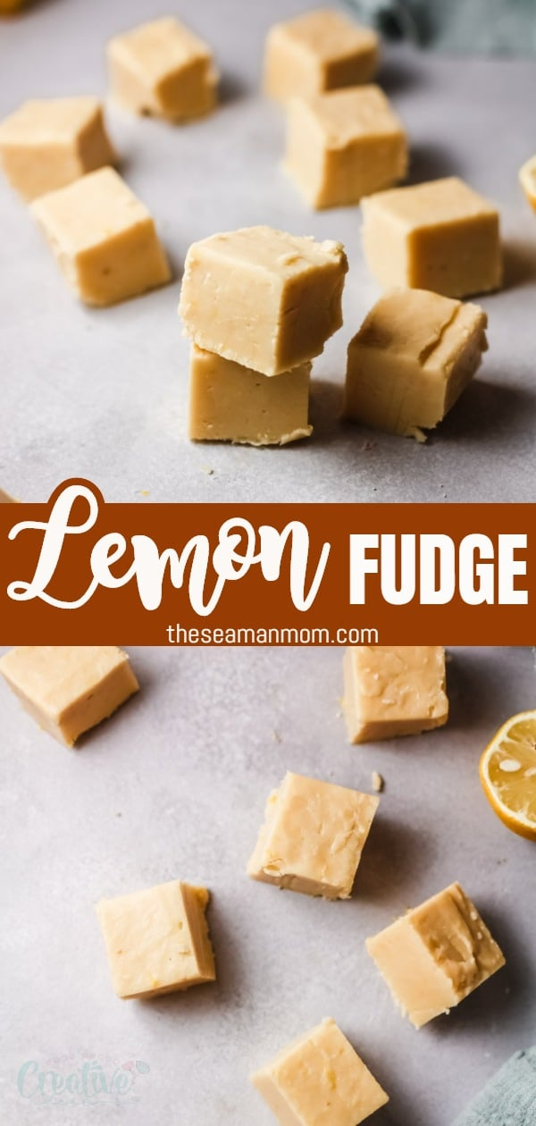 If you've been looking for a quick fudge recipe, give this traditional lemon fudge a try! Made in the stovetop and cooled in a loaf pan, this lemon fudge recipe is tangy, zesty and sweet all at the same time. Get ready to pucker up because you can feel the delicious lemon flavor in every bite! via @petroneagu