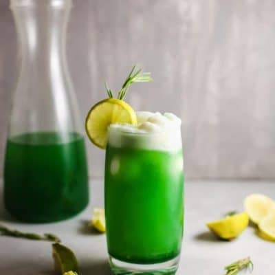 St Patrick lime sherbet punch