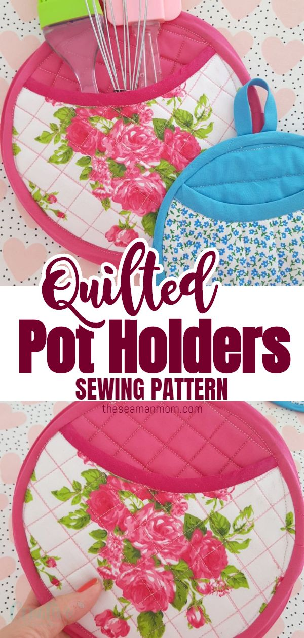 Making potholders is fun and easy! Learn how to make some simple but stunning round quilted pot holders with this easy to follow tutorial! Great gift ideas for holidays but work wonders for every day use in your personal kitchen! via @petroneagu