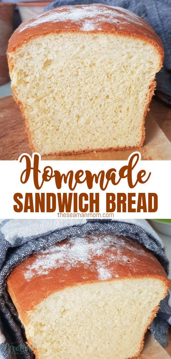 If you're a bread fanatic, this soft and delicious homemade sandwich bread is a recipe you need to add to your kitchen repertoire now! Perfect for making lunch sandwiches or serve as toast with butter, jelly or peanut butter in the morning for breakfast! via @petroneagu
