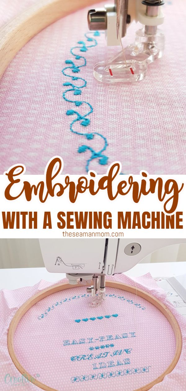 Adding fancy embroidery to any of your handmade projects using an embroidery machine is awesome! But can you do any embroidery on your regular sewing machine? Learn how to embroider with a sewing machine using a regular straight stitch or/and free motion! via @petroneagu