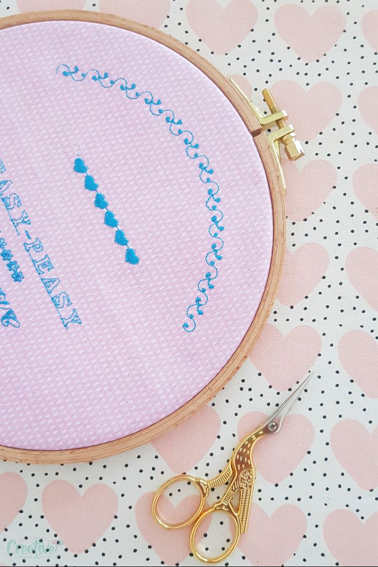 How to set up an embroidery hoop