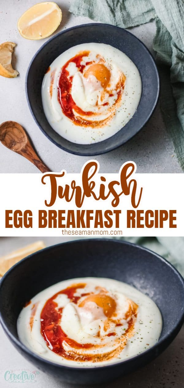 Turkish poached eggs are an incredible breakfast or brunch recipe! Slightly spicy, tangy and herby, this Turkish eggs recipe is quick and easy but feels totally elevated! via @petroneagu