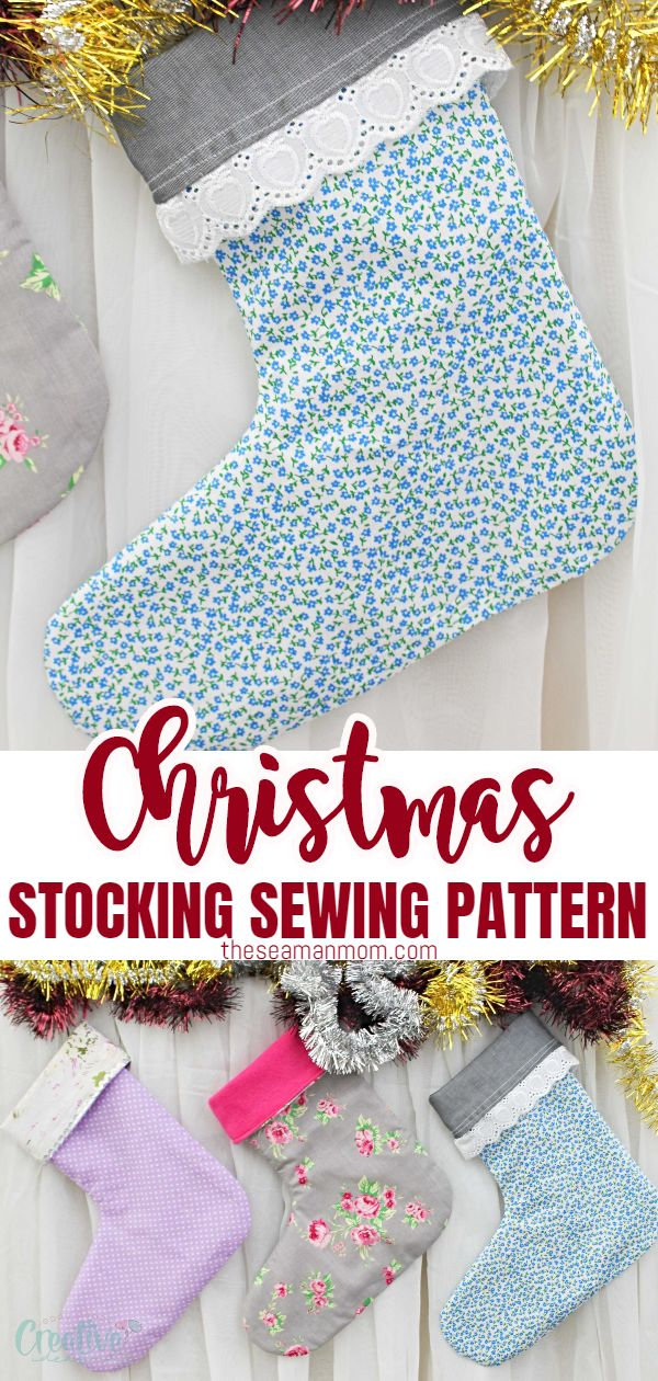 Add a dose of cheer to your holidays when you make these cute Christmas stockings! This Christmas stocking sewing pattern is simple and the instructions are easy to follow, making this project perfect for beginners! via @petroneagu