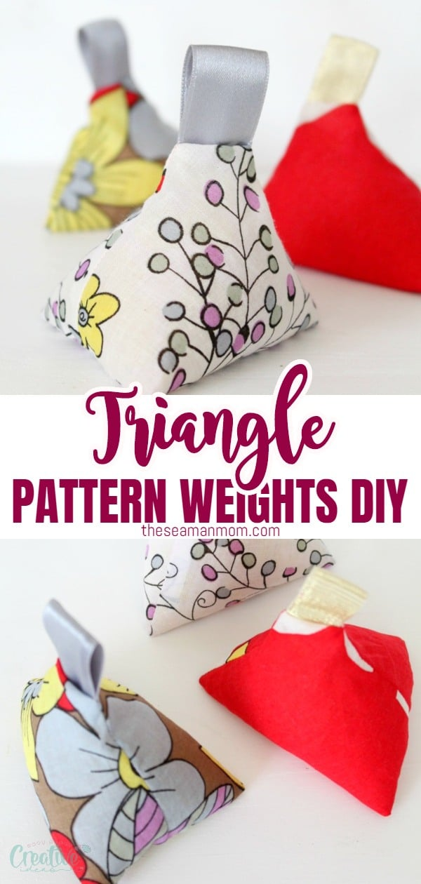 Make your own fabric weights with this 10 minutes tutorial! These sewing weights are perfect for skipping pins when tracing your patterns but are also cute enough to use as home decor! via @petroneagu