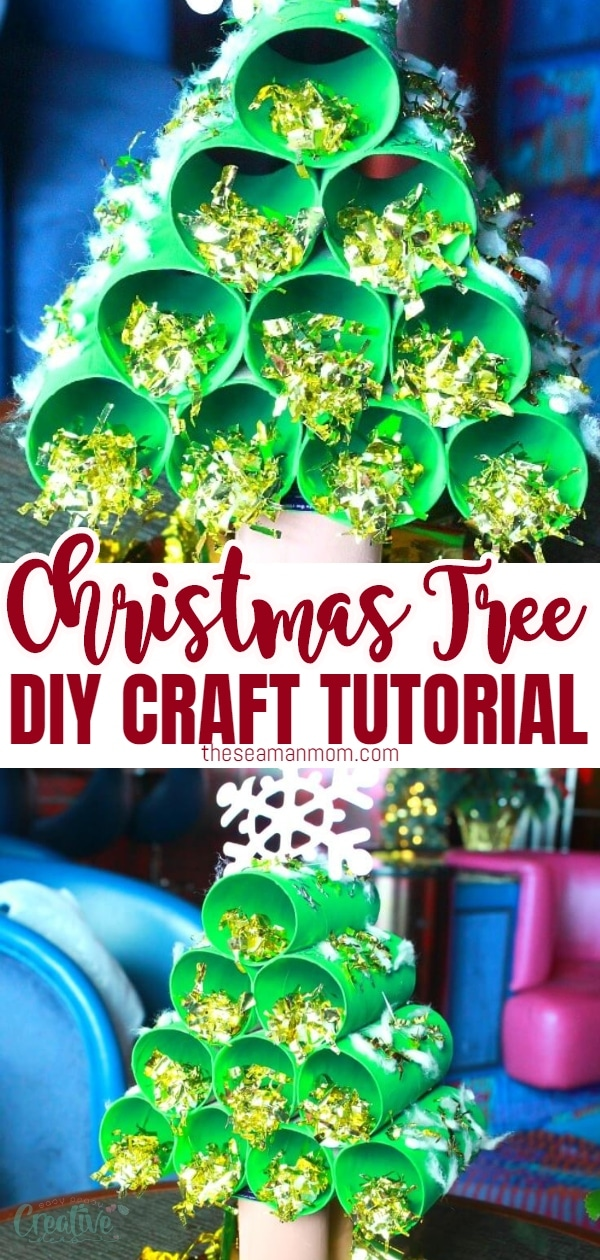 Bring the holiday cheer to your home with an easy paper tube Christmas tree craft! Easy and fun to make, this is a great holiday activity for kids! via @petroneagu