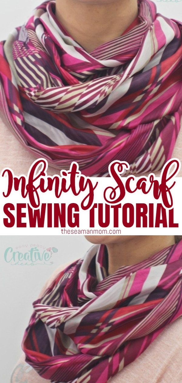 DIY INFINITY SCARF SEWING TUTORIAL via @petroneagu