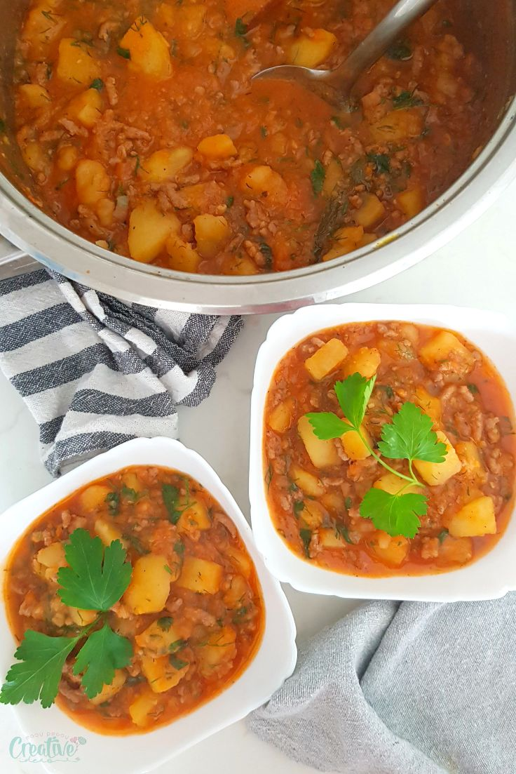 Beef potato stew